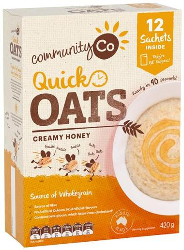 CREMY HONEY QUICK OATS 420GM