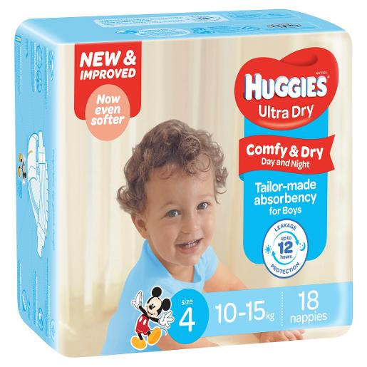 TODDLER BOY NAPPIES 18S