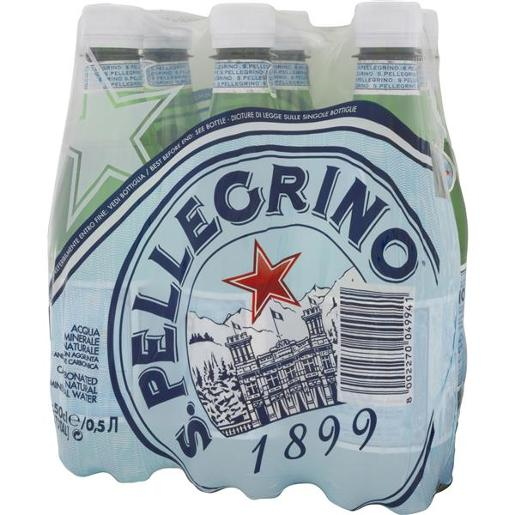 SPARKLING MINERAL WATER PET 6 PACK 6X500ML