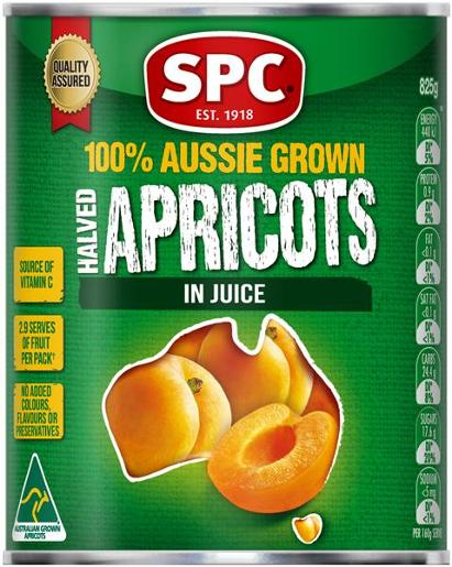 APRICOT HALVES IN NATURAL JUICE 825GM