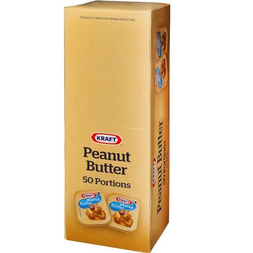 PEANUT BUTTER SMOOTH PORTIONS 50X11GM