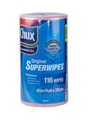 SUPERWIPES ECONOMY ROLL RED 3CM X 65CM 116S
