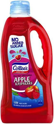 APPLE & RASPBERRY NO ADDED SUGAR CORDIAL 1L