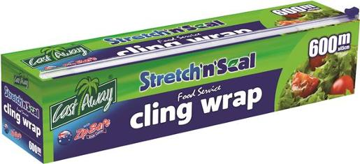 CLING WRAP ECONOMY ZIP SAFE DISPENSER 45CM X 6M 1EA