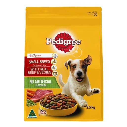 BEEF & VEGETABLE MINI MEATY BITES DOG FOOD 2.5KG