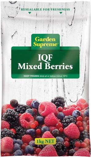 MIXED BERRIES INDIVIDUALLY QUICK FROZEN 1KG