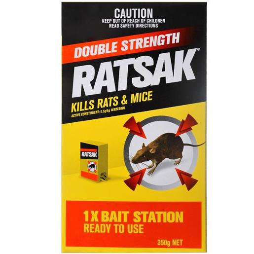 DOUBLE STRENGTH RODENTICIDE 350GM